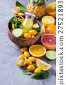 Variety of citrus fruits 27521893