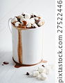 hot chocolate with mini marshmallows 27522446