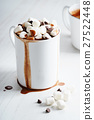 hot chocolate with mini marshmallows 27522448