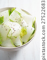 Salad of cucumber, chia seeds and parsley. 27522683