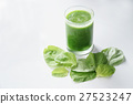 glass of fresh green spinach healthy smoothie 27523247