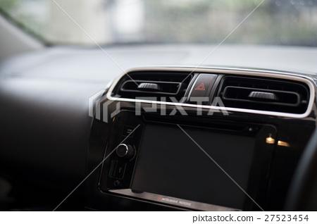 Car emergency button on a car console 27523454