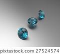 Background with blue gemstones. 3D illustration 27524574