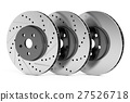 Car discs brake rotors, 3D rendering 27526718