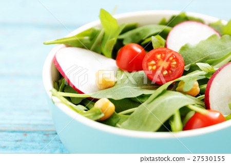 Vegetarian and dieting food with salad 27530155