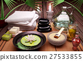 Spa, still, life, with, burning,candles, clay,mask 27533855