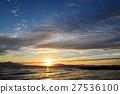 lake biwa, morning glow, sunrise 27536100
