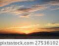 lake biwa, morning glow, sunrise 27536102