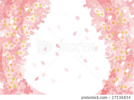 春桜 터널 하늘 27536834