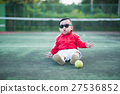 portrait baby on tennis court 27536852