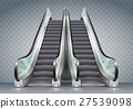 Escalator with clear glass 27539098