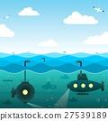 submarine,marine,vector 27539189