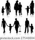 child, silhouette, family 27540604