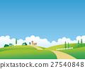 풍경, 경치, 집 27540848