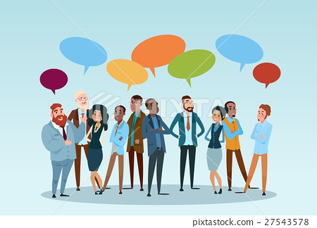 Business People Group Chat Communication Bubble 27543578