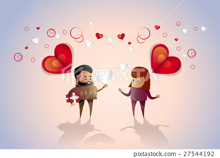 Valentine Day Holiday Couple Embrace Love Heart 27544192