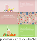 Set of banners with fruit and vegetable smoothies 27546269