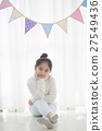 Portrait of Asian girl decorate he room 27549436