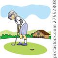 senior, golf course, golfing 27552808