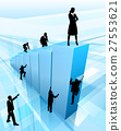 Business People Silhouettes Success Concept 27553621
