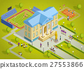 building, isometric, university 27553866
