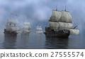 Sailboats On The Sea 3D Illustration 27555574