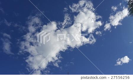 片雲的蔚藍天空 27556256