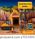 Construction works scene with driller 27557005