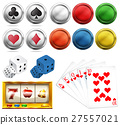 Casino set with tokens and cards 27557021