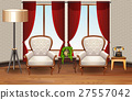 Scene with two armchairs in the room 27557042