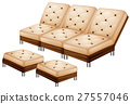 Sofa with leg stool 27557046