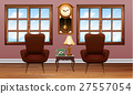 Room with two brown armchairs 27557054