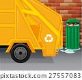 garbage trash truck 27557083