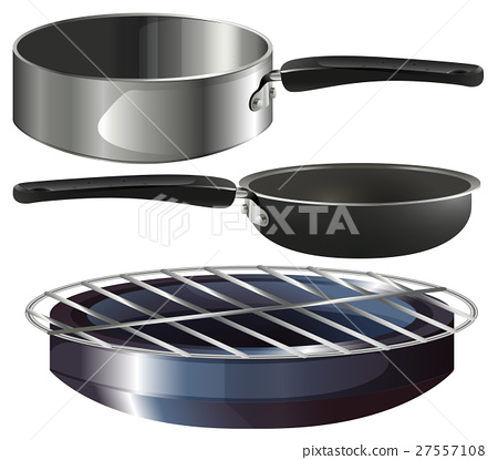 Different cooking equipments on white background 27557108