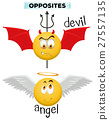 Opposite words with devil and angel 27557135