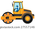 Man driving road roller 27557146