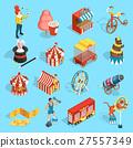Travel Circus Isometric Icons Set  27557349