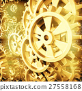 Gold gears and cogs macro 27558168