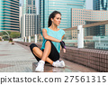 Female athlete tired after running or training 27561315