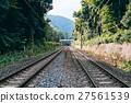铁路 晴天 电线杆 27561539