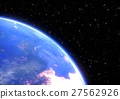 planet earth in space closeup - 3D render 27562926