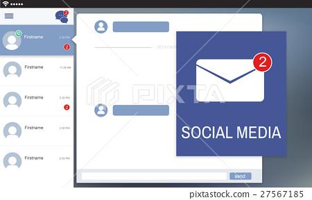 Letter Envelop Message Notification Concept 27567185