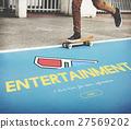 Entertainment 3D Glasses Movie Media Recreation Online Concept 27569202