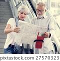 Senior couple tourists traveling city 27570323