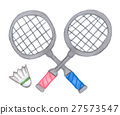 Badminton racket and shuttle 27573547