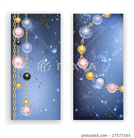 two banners with beads 27575303