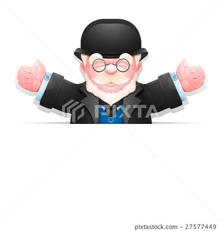 Friendly elderly gentleman with arms wide open 27577449