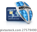 Credit card and security shield 27579490