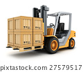 Forklift truck and box 27579517