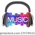 headphone, music, 3d 27579532